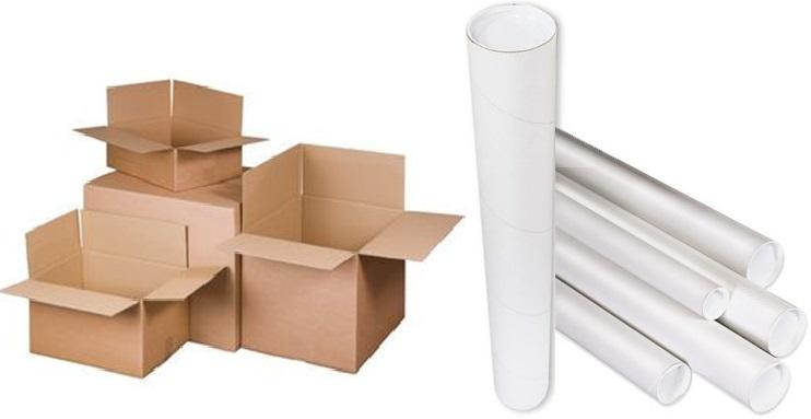 Pakket verzenddoos-kokers