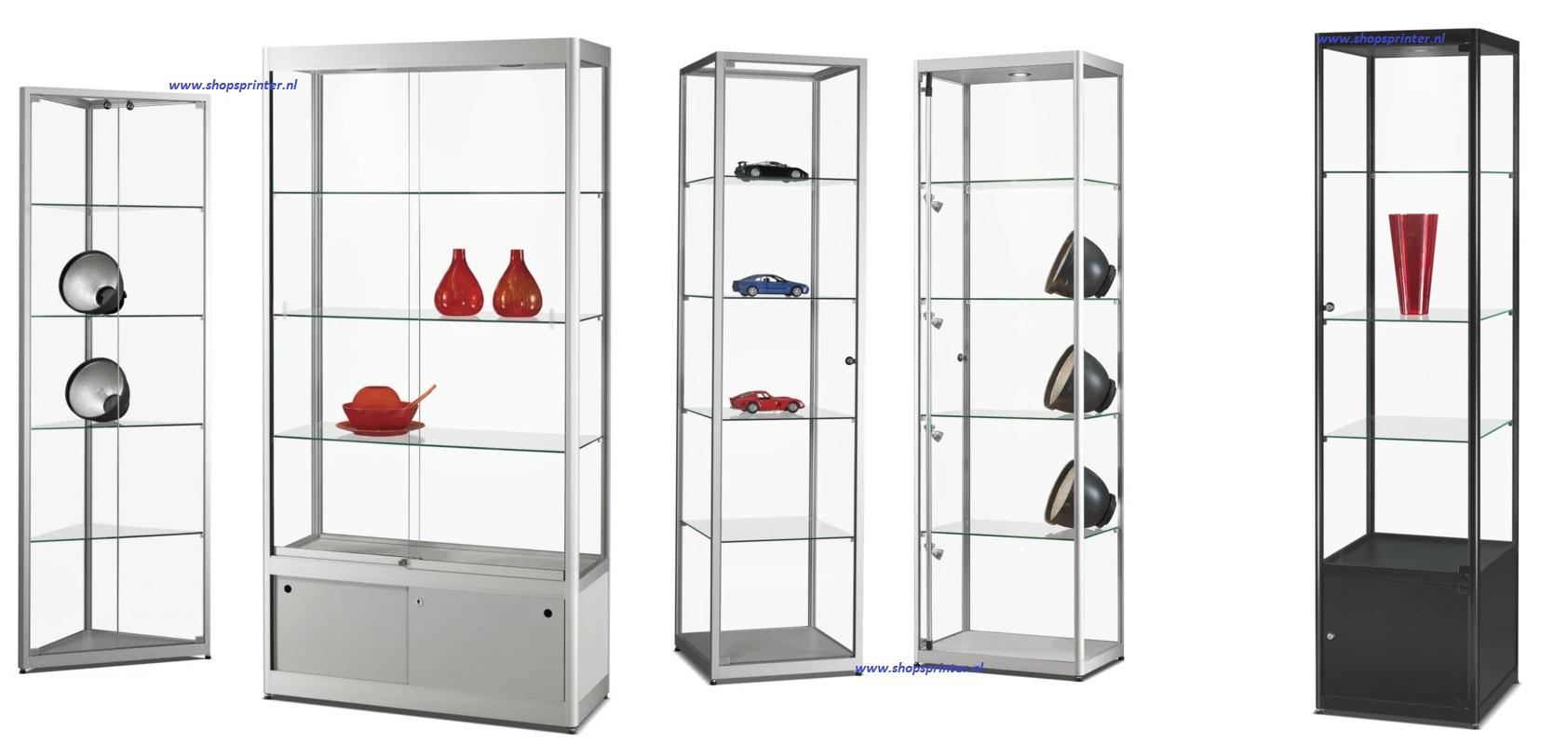 Standaard vitrines