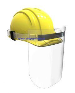Corona gezichtsmasker voor werkhelmen transparant kunststof voor bescherming