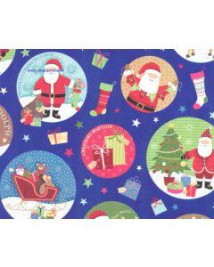 Cadeaupapier met kerstman