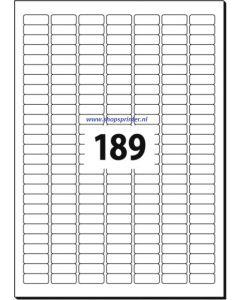 Etiket tbv beprijzing, tekst/logo 189 stuks