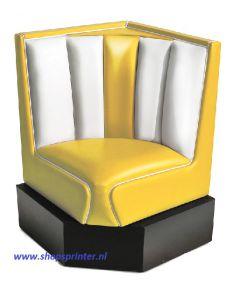 Bel Air Hoekbank geel/wit