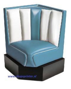 Bel Air Hoekbank blauw/wit