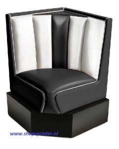 Bel Air Hoekbank zwart/wit