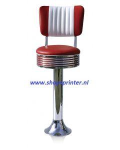Bel Air Barkruk robijn rood/wit
