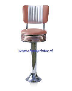Bel Air Barkruk roze/wit