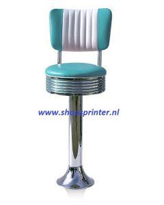 Bel Air Barkruk turquoise/wit