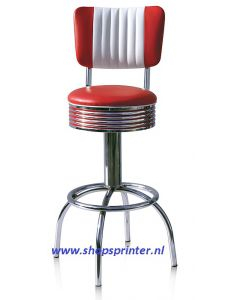 Bel Air Barkruk rood/wit