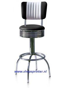 Bel Air barkruk zwart/wit