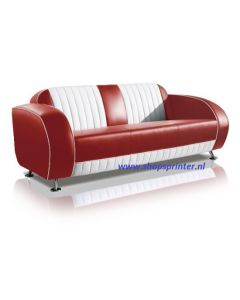 Bel Air Sofa robijn rood/wit
