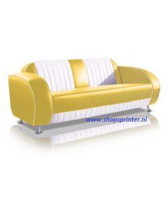 Bel Air Sofa geel/wit