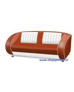 Bel Air Sofa robijn rood/wit
