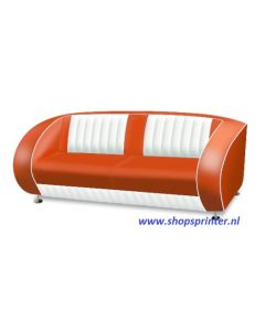 Bel Air Sofa rood/wit