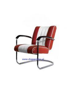 Bel Air Stoel robijn rood/wit