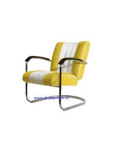Bel Air Stoel geel/wit