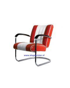 Bel Air Stoel rood/wit