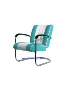 Bel Air Stoel  turquoise/wit
