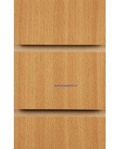 1.Beuken slatwall met profielen 100 mm
