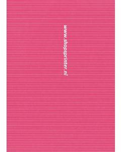 Cadeaupapier Roze streep Lengte 100 mtr