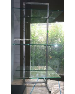 Displaymeubel RVS/glas