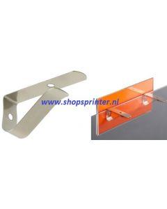 Schapclips voor hout of glas legbord