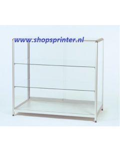 Toonbankvitrine glas 1000x600x920 mm