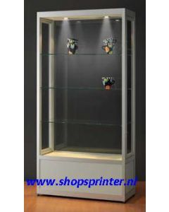 Vitrine stof- en luchtdicht technisch aluminium B1000xD400xH2000