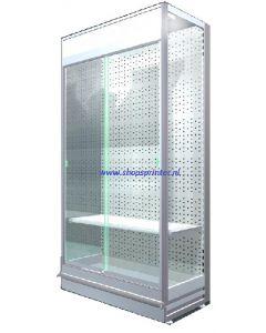 Voorzet klapvitrine, technisch, afm. B1250xD470xH2160 mm