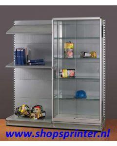 Voorzet vitrine, technisch, afm. B1250xD370xH2080 mm vv 4xLB