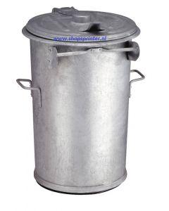 Afvalbak staalverzinkt 110 liter