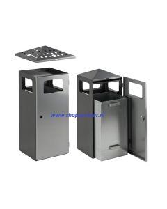As-, afvalbak in RVS vv top