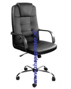 Bureaustoel in zwart leer