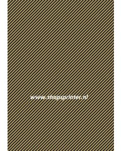 Cadeaupapier STRIPES 250mtr in zwart/bruin