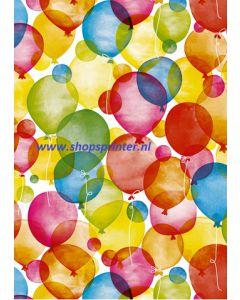 Cadeaupapier Ballonnen Lengte 175 mtr.