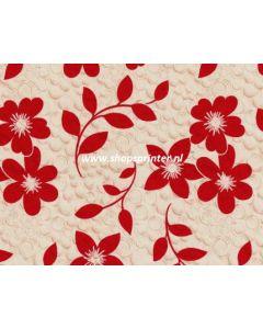 Cadeaupapier Rode bloem 50x100 mtr