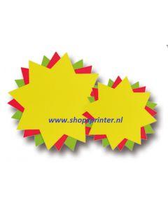 Fluor etalagekarton ster