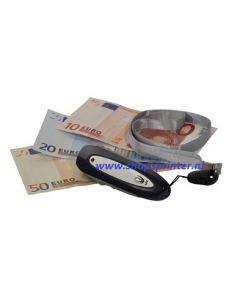 Geld detector aan koord