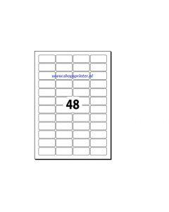 Etiketten transparant 45,7x25,4 mm