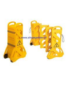 Barricade mobiel in geel