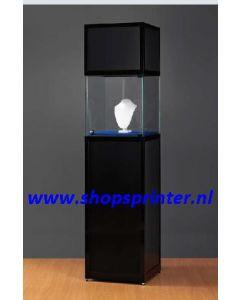 Museum vitrine zwart