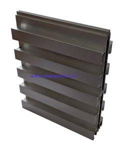 3.Dubbelzijdig slatwall presentatie aluminium H125