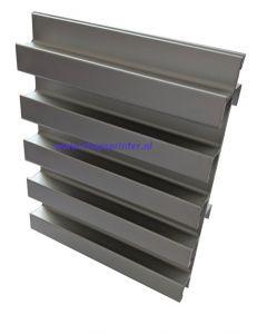 3.Aluminium 25mm slatwall wand H125