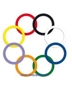 Sleutel ring assorti kleuren, 80 stuks