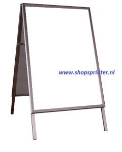 Stoepbord standaard aluminium