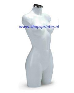Vrijstaande kunststof Torso's vrouw in wit