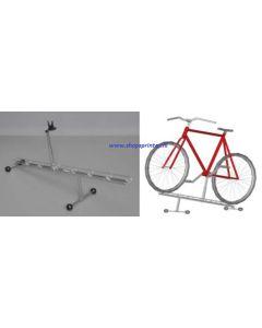 Verhoogde Fyra fietsdisplay vrijstaand