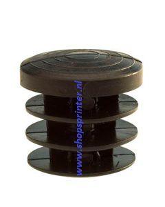 Voetdop inwendig tbv buis 25 mm in zwart