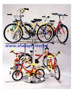 Vrijstaande kinderfietsen display tbv 8 fietsen, vast model