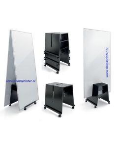 Whiteboard dubbelzijdig te gebruiken) 900x11800 mm op verrijdbare trolley