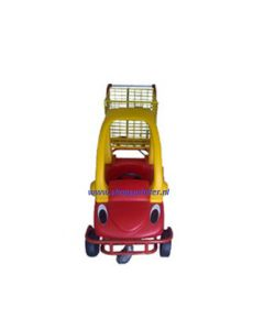 Winkelwagen met kinderauto